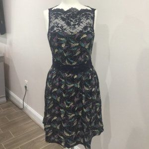 FREE PEOPLE floral and lace dress